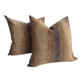 """Antelope"" by Lee Industries Chenille Pillows - a Pair For Sale"