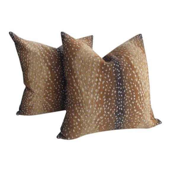 """""""Antelope"""" by Lee Industries Chenille Pillows - a Pair For Sale"""
