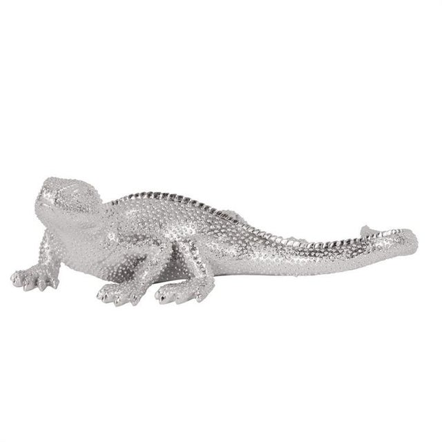 Kenneth Ludwig Chicago Kenneth Ludwig Chicago Lizard Figurine Bright Textured Nickel For Sale - Image 4 of 4