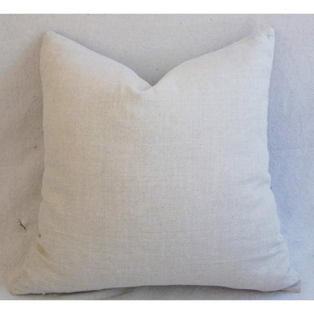 Nautical White & Blue Stripe Wool & Linen Pillows - a Pair - Image 10 of 10