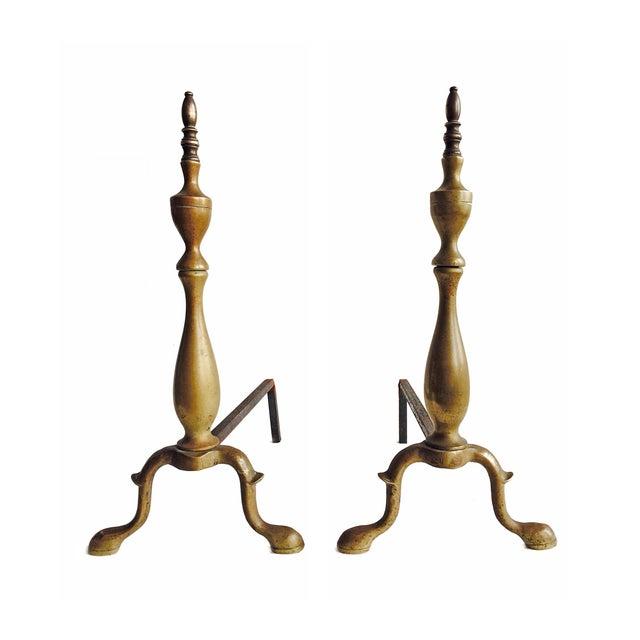 Brass Andirons - Image 1 of 4