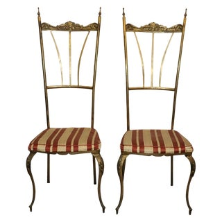 1950s Vintage Chiavari Style Chairs- a Pair For Sale
