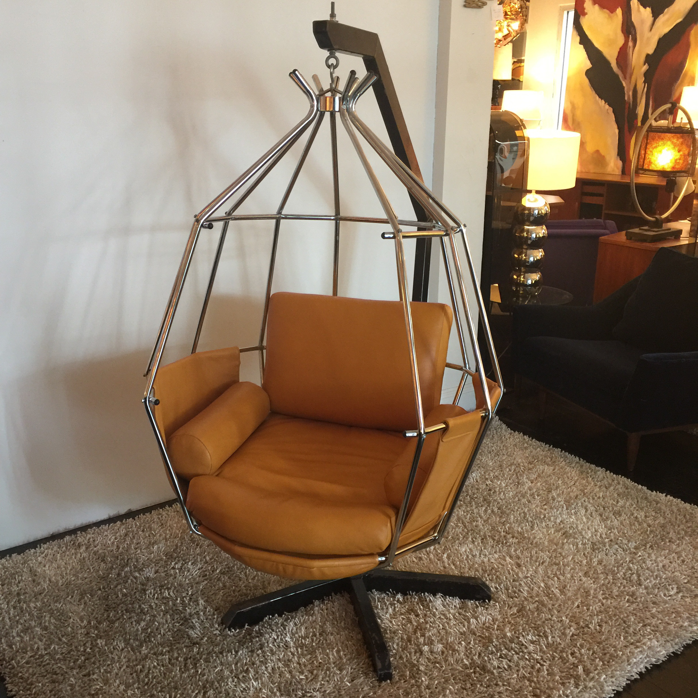Attractive Arberg Hanging Birdcage Chair   Image 3 Of 6