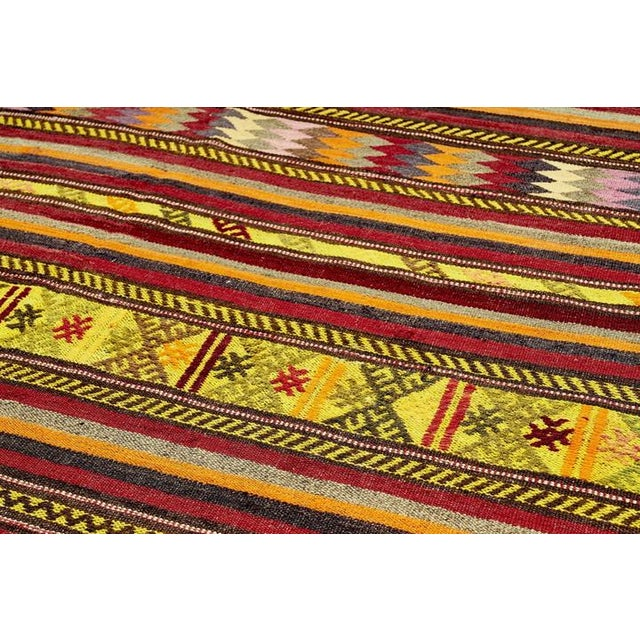 Mid 20th Century Vintage Red Turkish Area Rug 6' X 10' For Sale - Image 5 of 6