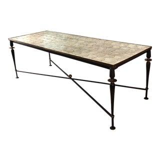 Vintage Metal and Capiz Shell Coffee Table