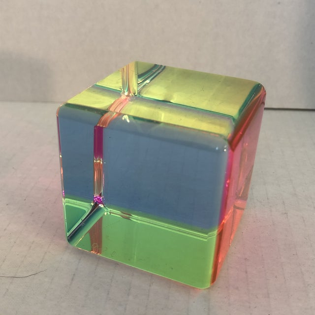 Acrylic Prism Cube by Vasa For Sale - Image 6 of 9
