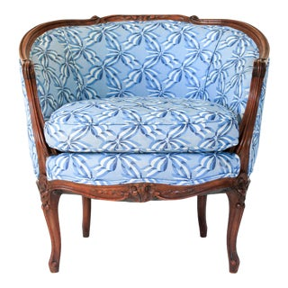 Louis XV Barrel Back Chair For Sale