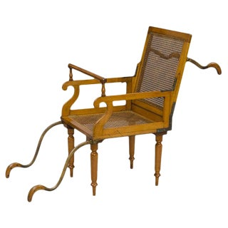 Antique English Campaign Traveling Folding Armchair For Sale