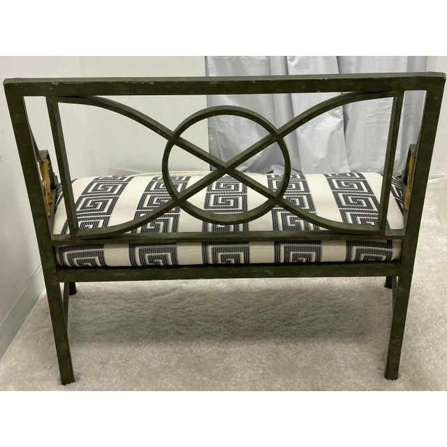 Metal Pair of Neo-Classical Style Benches / Settees For Sale - Image 7 of 12