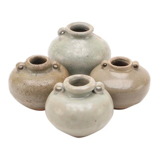 Antique Chinese Celadon Jars - Set of 4 For Sale