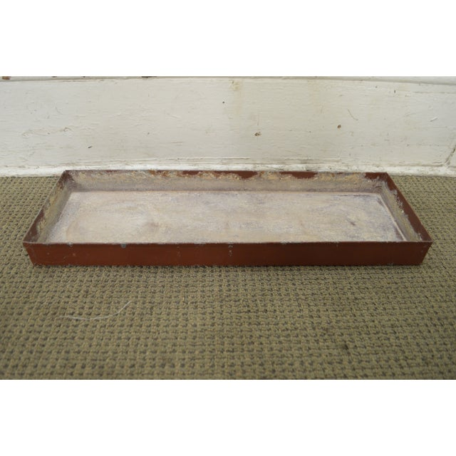 Faux Bamboo Metal Planter Console For Sale - Image 9 of 10