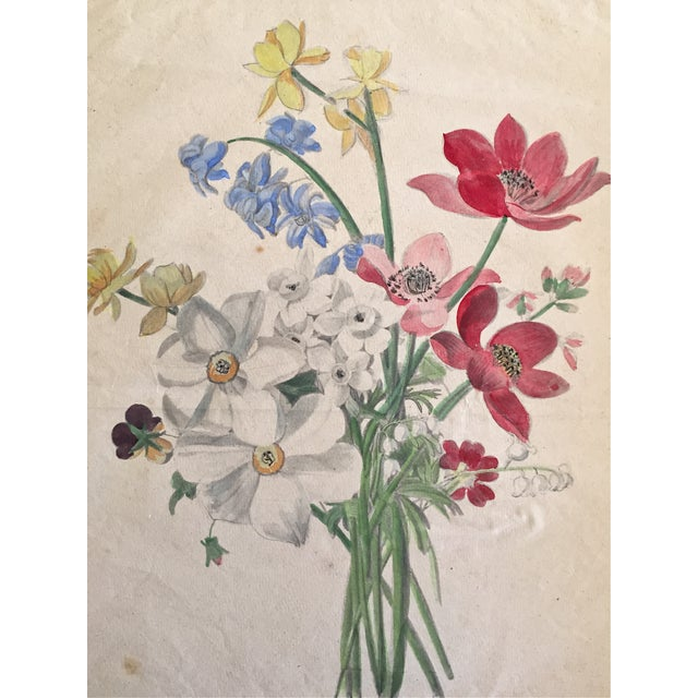 Antique French Floral Botanical Print For Sale In New York - Image 6 of 6