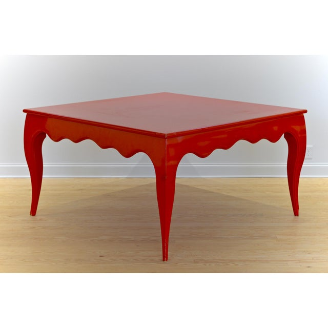 Large Scale Square Dining Table With Cabriole Legs - Image 2 of 8