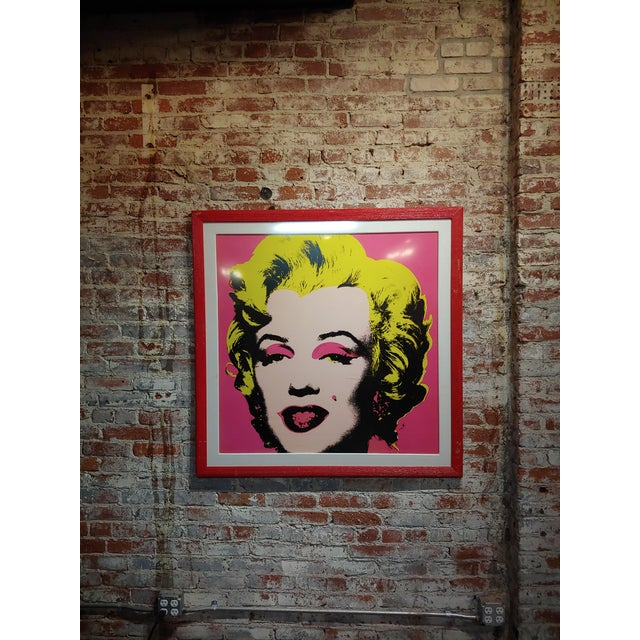 "Glass Andy Warhol ""Marilyn Monroe""Vintage Screenprint by Sunday B. Morning For Sale - Image 7 of 7"