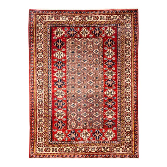 """New Traditional Hand Knotted Area Rug - 5'1"""" x 6'10"""" For Sale"""