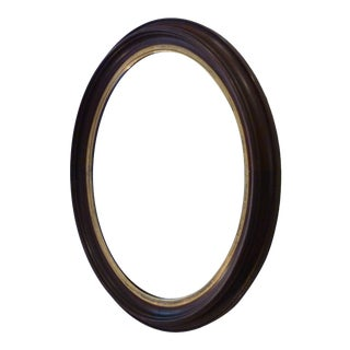 Antique Oval Walnut Mirror For Sale