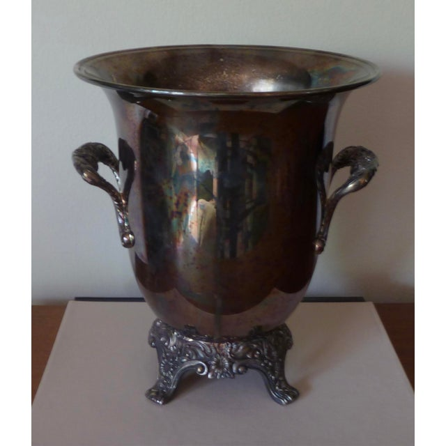 Vintage Silver Plate Champagne Bucket For Sale - Image 4 of 9