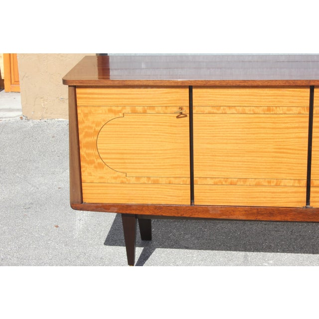 1940s French Art Deco Mahogany Sideboard For Sale - Image 9 of 13