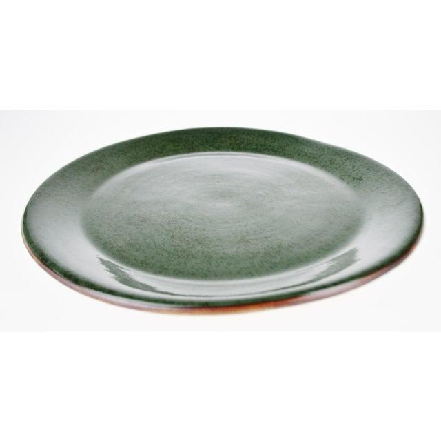 """Vintage Terrafirma Ceramics by Ellen Evans 12"""" Dinner Plate For Sale - Image 4 of 8"""