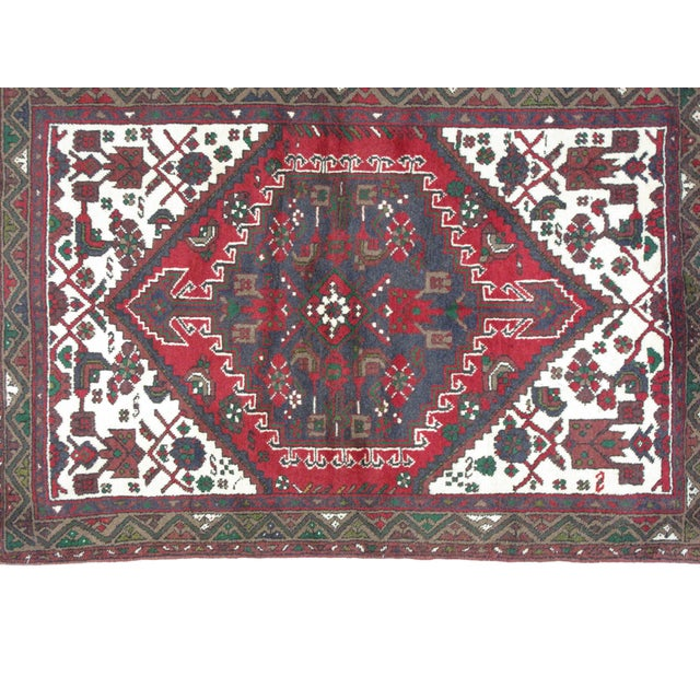 "Leon Banilivi Persian Hamadan Rug - 3'7"" x 5'2"" For Sale - Image 5 of 6"