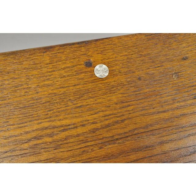 Vintage Arts & Crafts Mission Oak Wood Prayer Kneeler Kneeling Bench Seat For Sale - Image 9 of 12