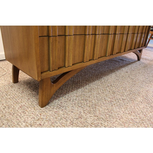 Mid Century Hidden Pull Credenza on Boomerang Legs - Image 10 of 11