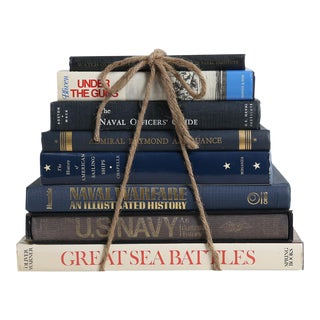 Vintage Book Gift Set: Naval MIX - Set of Eight Decorative Books