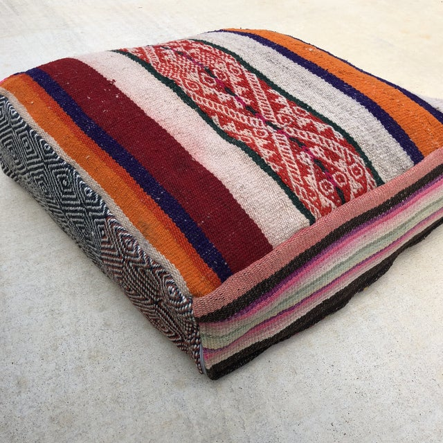 Large Frazada Floor Pillow For Sale - Image 4 of 8