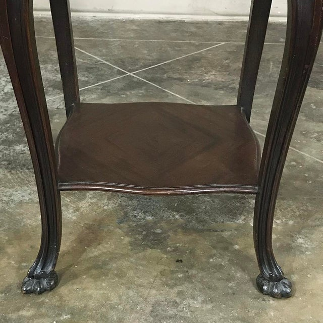 19th Century French Solid Rosewood Nightstand - Etagere Lamp Table For Sale - Image 9 of 12