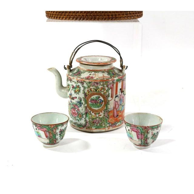 1870s Rose Medallion High Tea Set - Image 6 of 9