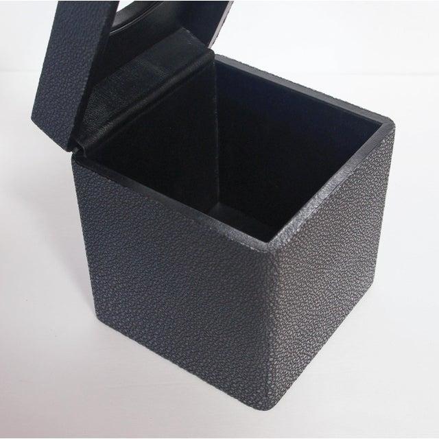 Italian Italian Black Shagreen Tissue Box by Fabio Ltd For Sale - Image 3 of 6