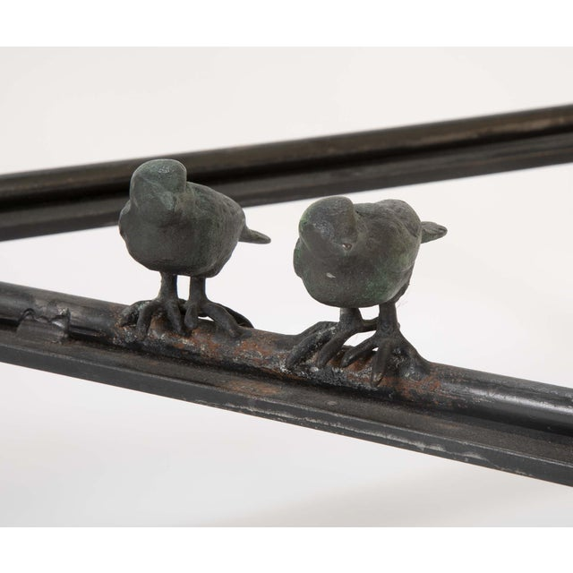 Patinated Wrought Iron Coffee Table by Llana Goor For Sale - Image 12 of 13