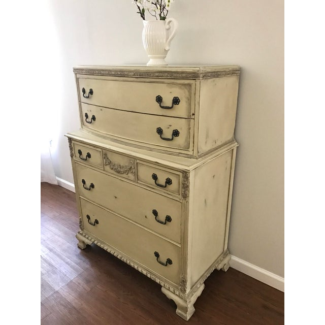Country Grey French Tall Dresser - Image 4 of 8