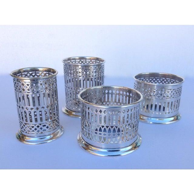 Vintage Silver Plate Celtic Pierced Syphons - Set of 4 For Sale - Image 11 of 11