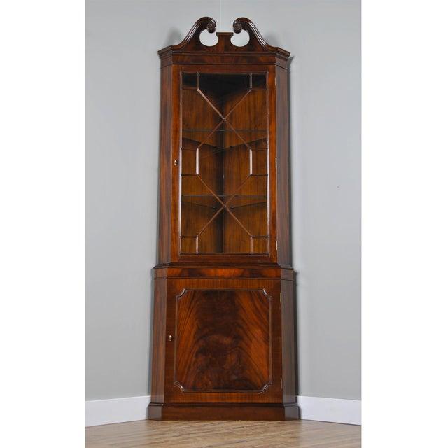 Wood Niagara Furniture Mahogany Corner Cabinet For Sale - Image 7 of 8