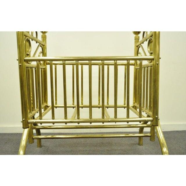 Victorian Vintage Victorian Brass Infant Cradle For Sale - Image 3 of 13