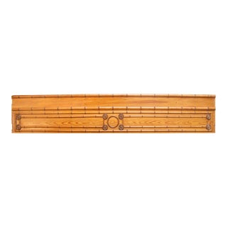 Antique English Faux Bamboo Panel For Sale