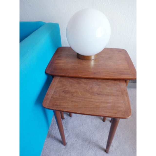 Mid-Century Modern 1970s Mid-Century Modern Glass Orb Lamp For Sale - Image 3 of 6