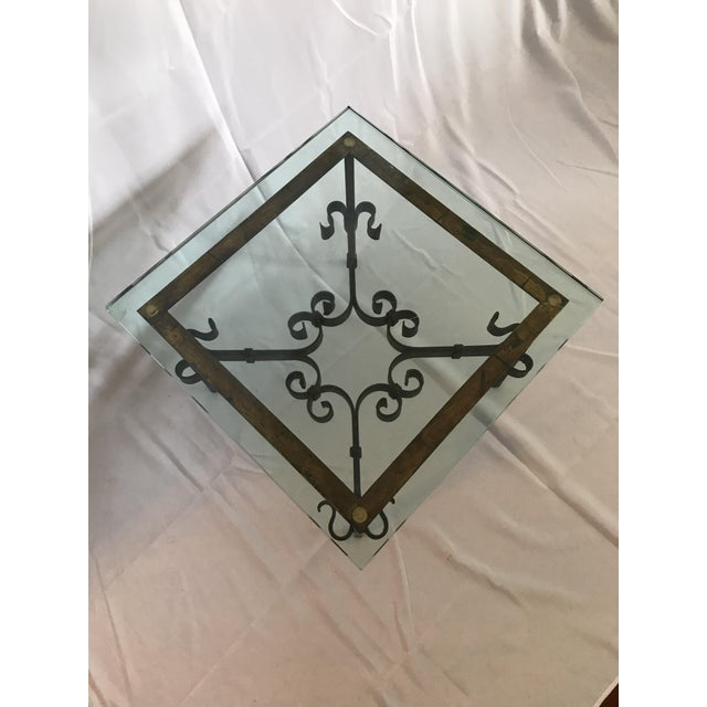 1960s 1960's Mid Century Modern Marshall Fields Spanish Revival Style Wrought Iron Side Table For Sale - Image 5 of 10