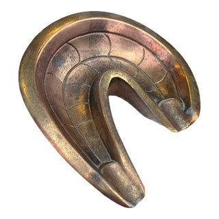 Brass Rams Horn Ashtray For Sale