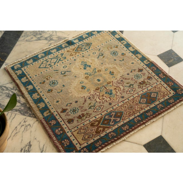 This vintage Turkish Yastik was woven entirely by hand, using hand-spun wool. Created using ancient methods that have been...