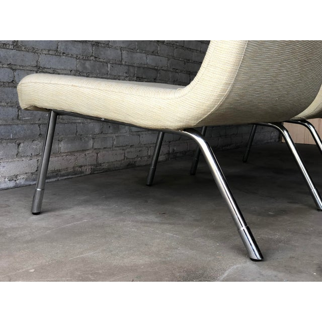1990s Roche Bobois Chrome Lounge Chairs - a Pair For Sale - Image 10 of 13