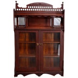 Image of Antique Victorian Carved Oak Bookcase For Sale