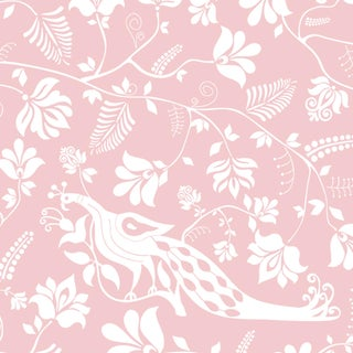 House of Harris Windwood Wallpaper, 30 Yards, Blush For Sale