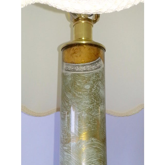 Mid-Century Table Lamps Eglomise Style - Image 7 of 11