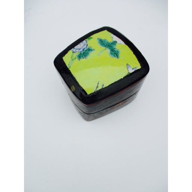 Asian Lacquer Porcelain Boxes - Set of 3 - Image 9 of 10
