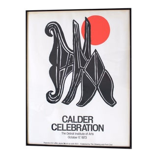 "1970s Mid-Century Modern Detroit Institute of Arts ""Calder Celebration"" Poster For Sale"