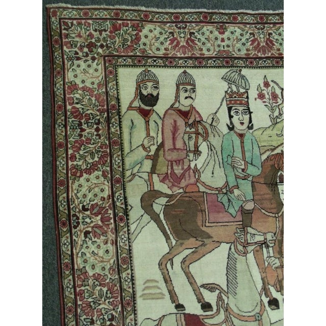 Late 19th Century Late 19th Century Antique Handmade Pictorial Rugs - a Pair For Sale - Image 5 of 13