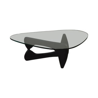 Herman Miller Isamu Noguchi Free Form Base Glass Top Coffee Table For Sale