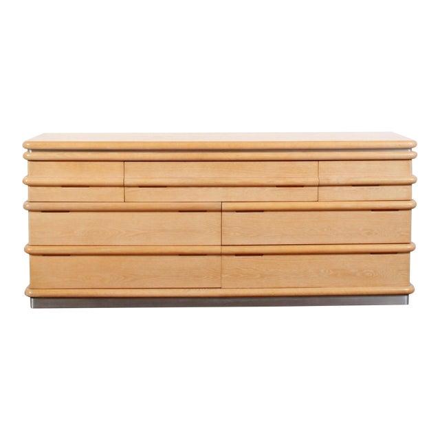 1980s Vintage Jay Spectre for Century Furniture Cerused Oak Dresser For Sale